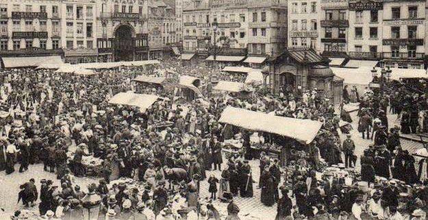 The Braderie de Lille a few decades ago