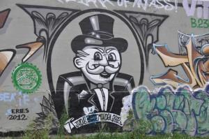 Canal de l'Ourcq : street art Monopoly