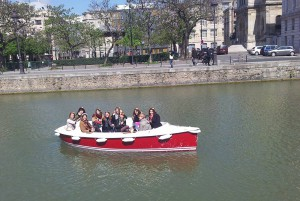 Hen party on a boat