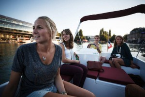 celebrate a birthday on a boat