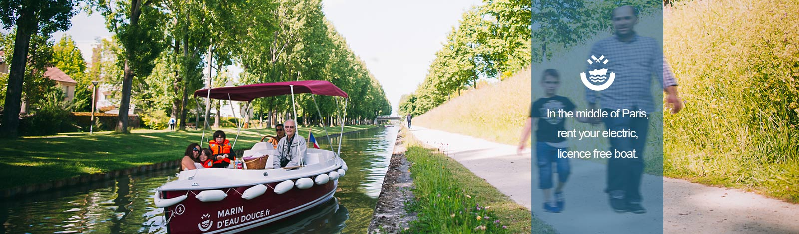 Sailing on quiet waterways aboard electric boat