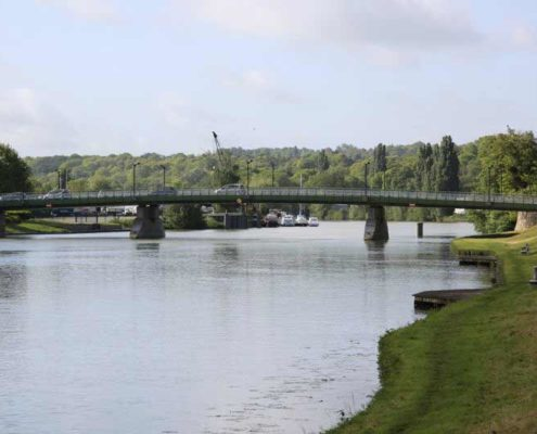 The « Foch » bridge on the Marne River in Meaux