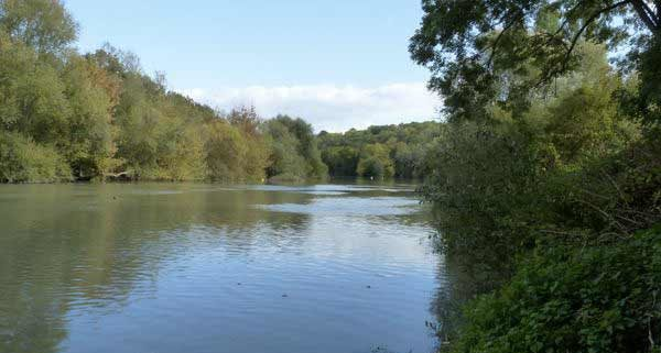 The Marne River is peaceful by boat