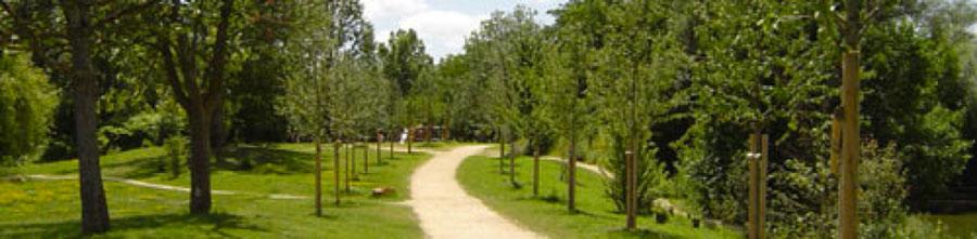 The Pâtis Park in Meaux