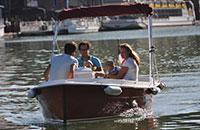 With family on the Bassin de la Villette